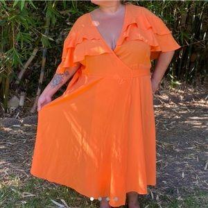 Orange ELOQUII brand midi dress ✨